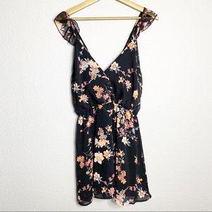 Tobi- Floral Print Mini Dress  - Size M